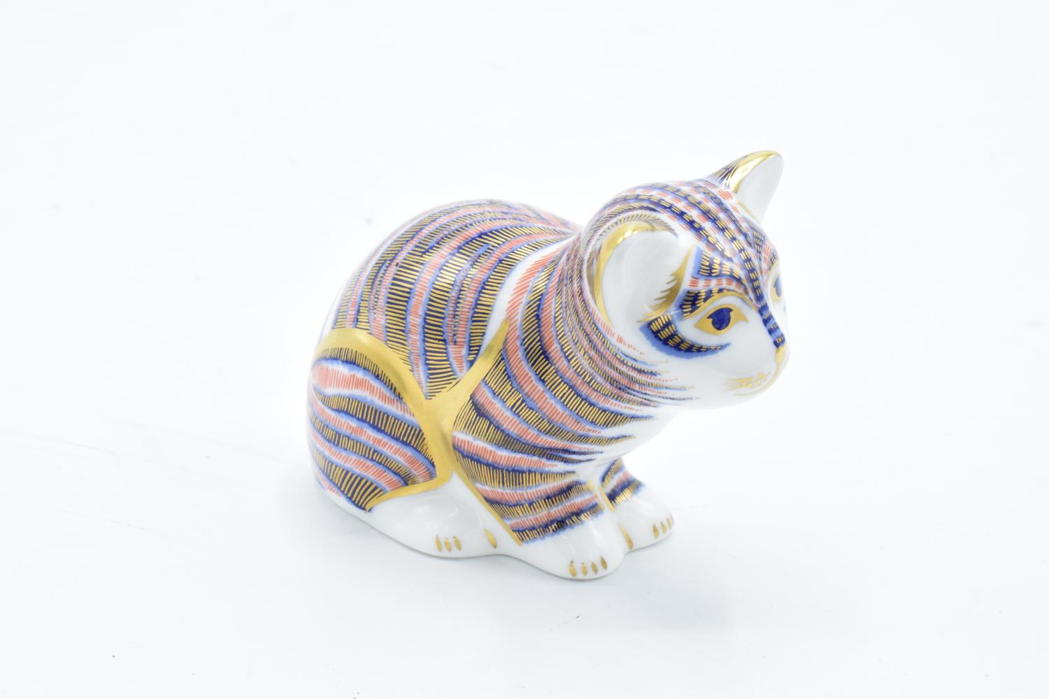 Royal Crown Derby paperweight in the form of a sitting kitten. In good condition with no obvious - Image 2 of 3