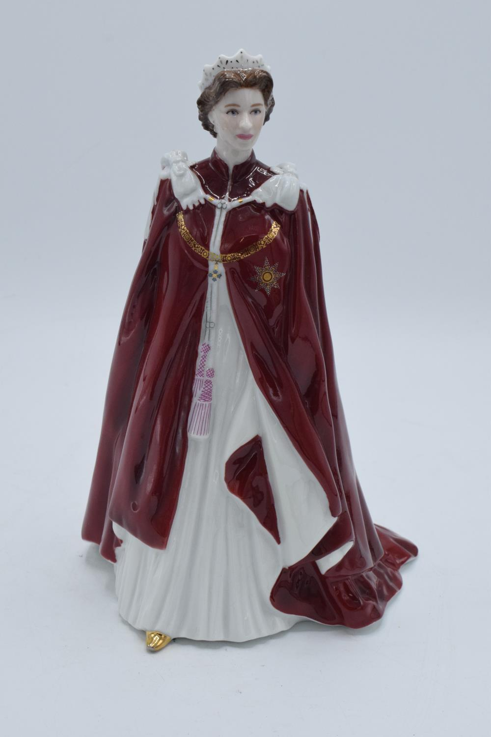 Royal Worcester figure Queens 80th Birthday. In good condition with no obvious damage or