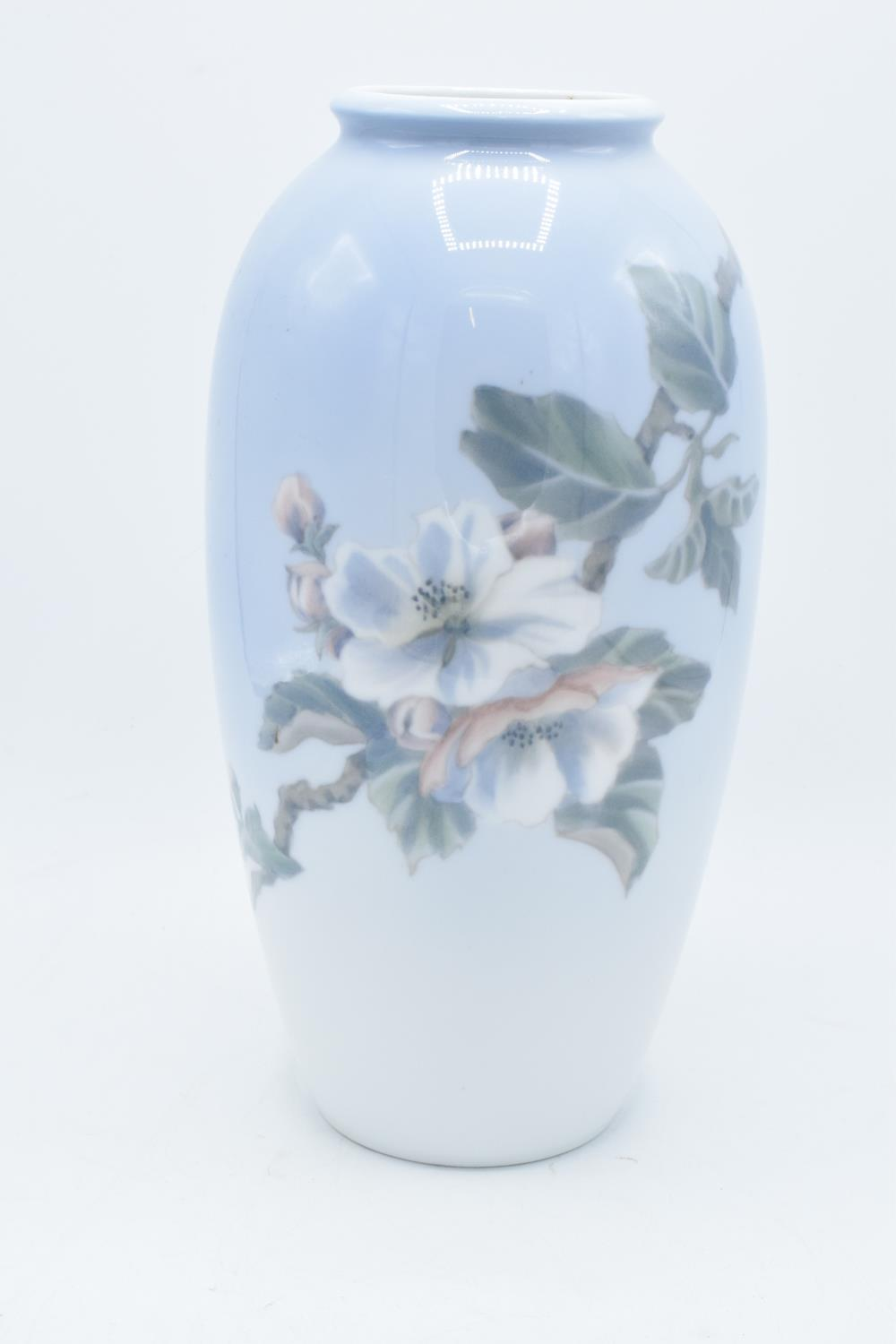 Royal Copenhagen vase with Apple Blossom design. 2629/2129. In good condition with no obvious damage