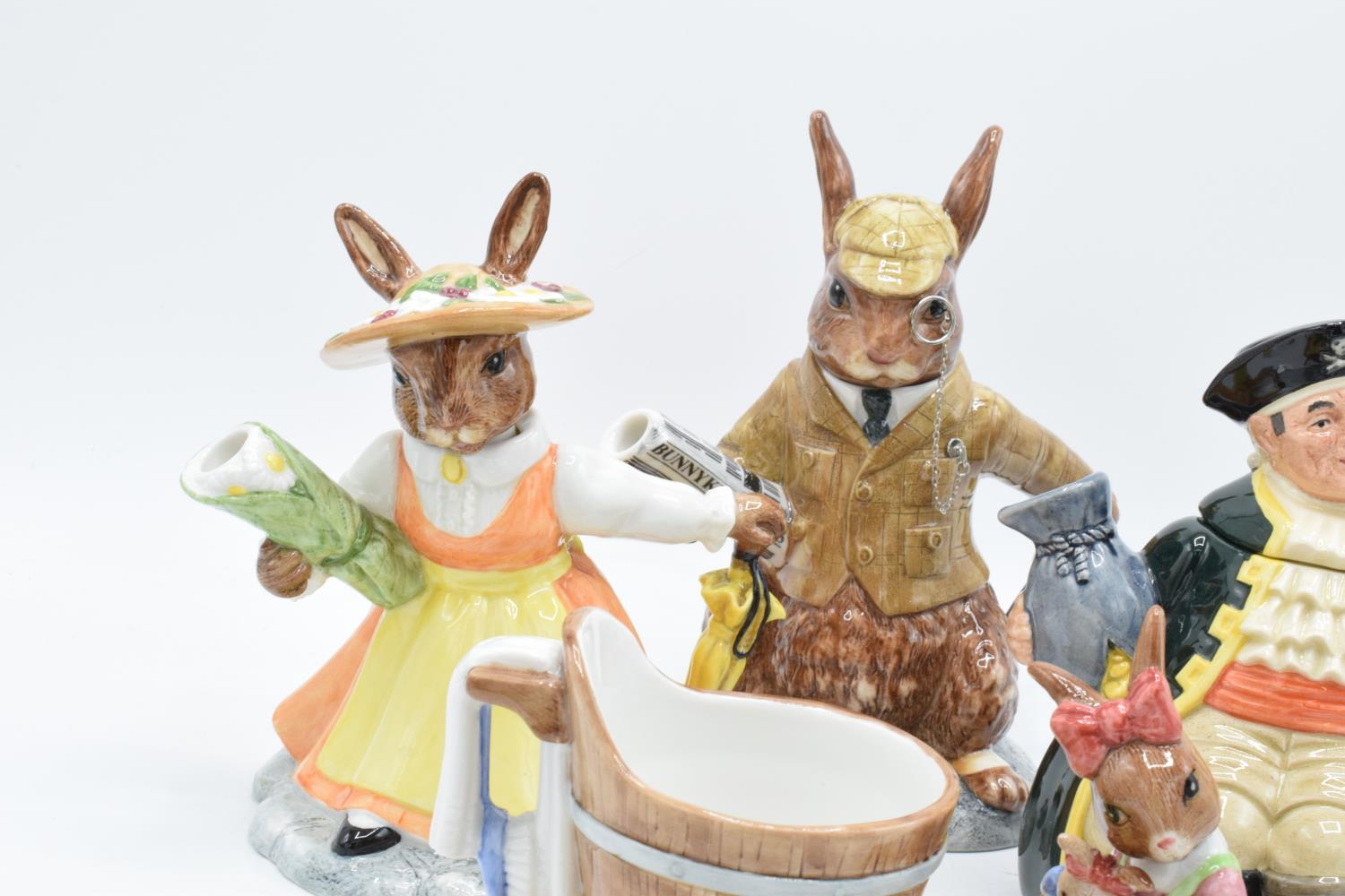 A collection of Royal Doulton to include a Long John Silver character teapot, Bunnykins Lord and - Image 2 of 4
