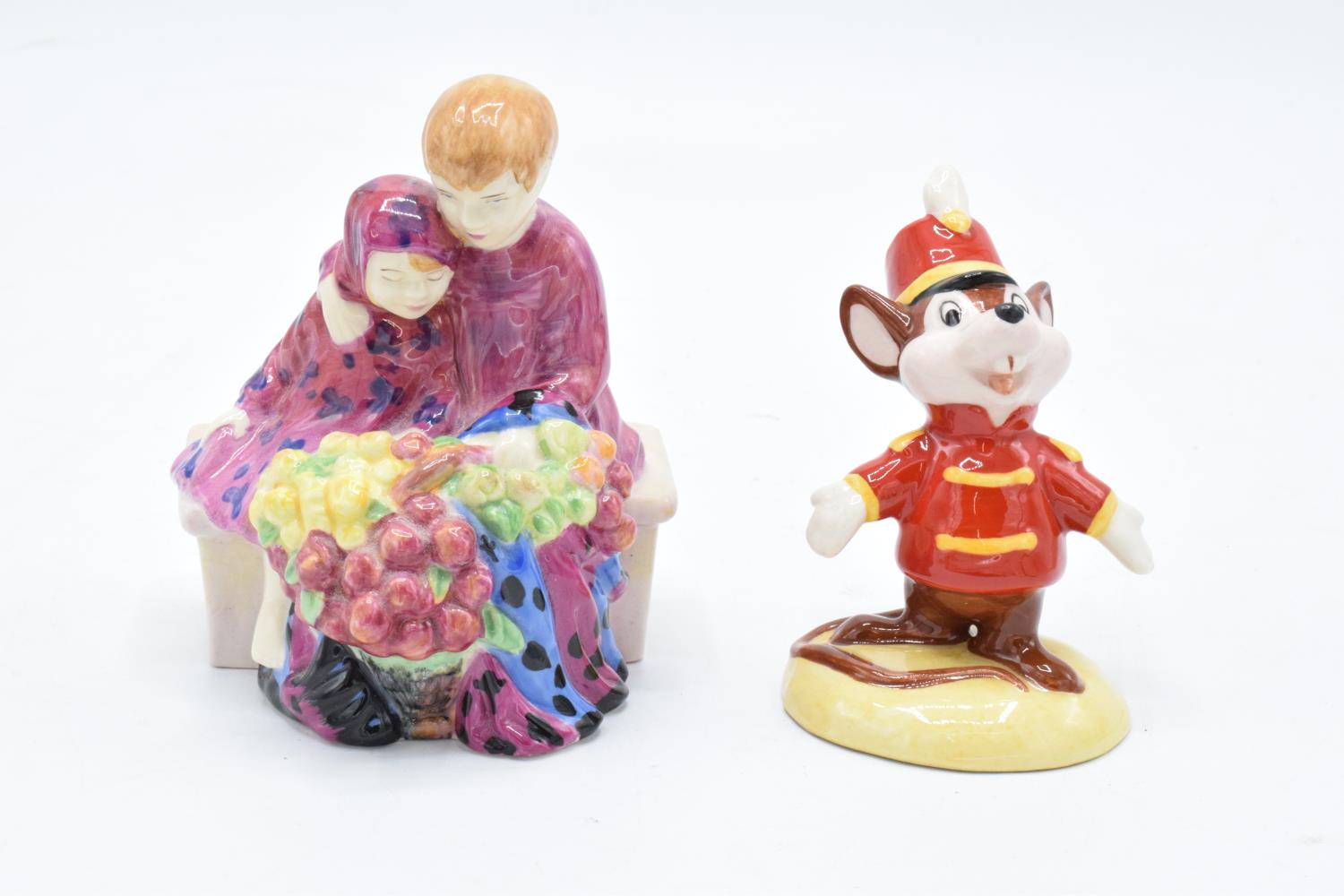 Royal Doulton figures to include Miniature street vendors Flower Sellers Children together with