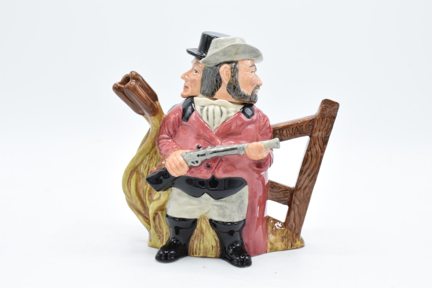 Royal Doulton Double sided character jug tea pot Gamekeeper and Poacher D7175, number 467 of 1500.