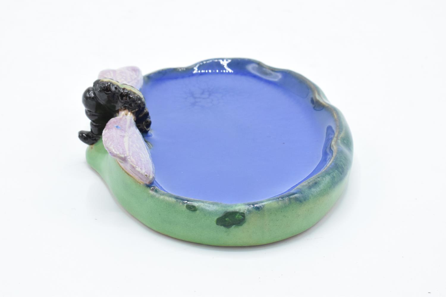 Royal Doulton stoneware Dragonfly bibelot/ soap dish for Wrights Coaltar soap. The item is in good - Image 4 of 9