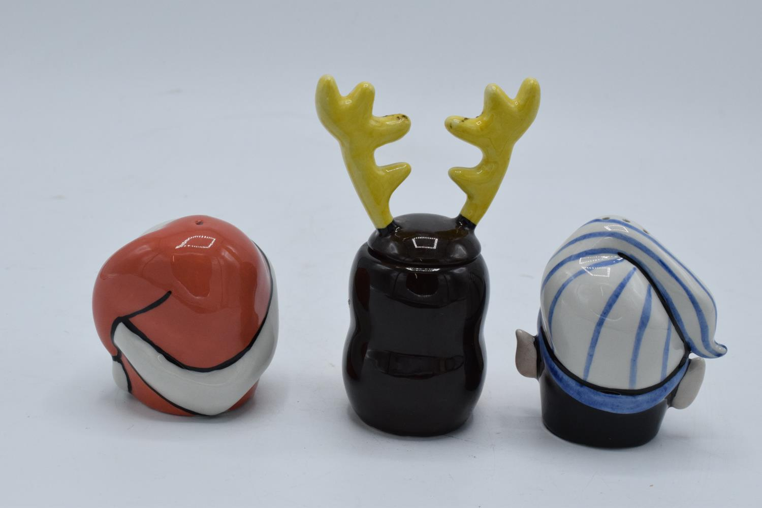 Lorna Bailey cruet set in the form of santa, a snowman and a reindeer (3). In good condition with no - Image 2 of 4