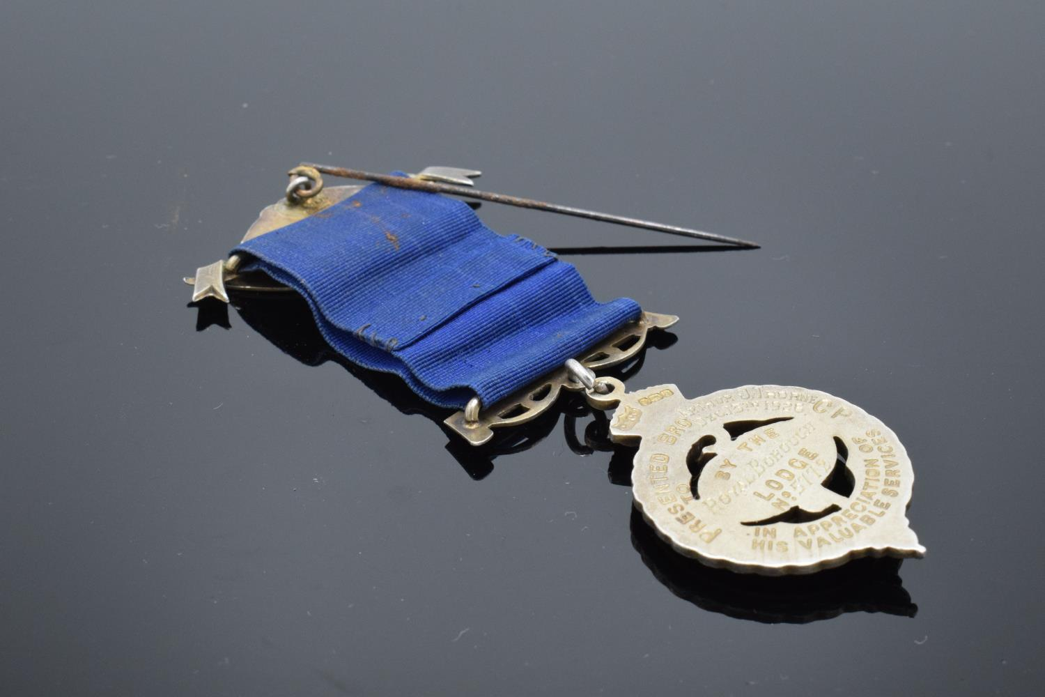 A silver medal and ribbon presented to Arthur J Thorne by the Royal Borough Lodge (GLE) Birmingham - Image 5 of 12