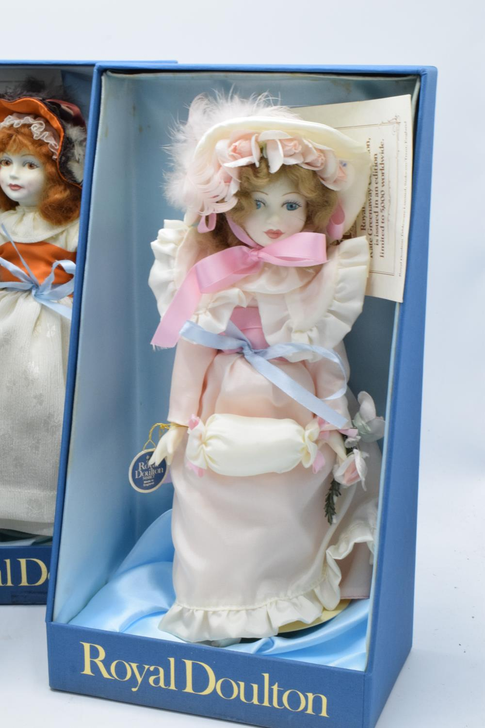 A collection of boxed Royal Doulton Nisbet dolls to include Waiting, The Muff and Pink Ribbons ( - Image 2 of 4