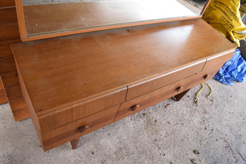 A 1960s G-Plan style teak veneer mirror backed sideboard - Image 4 of 6
