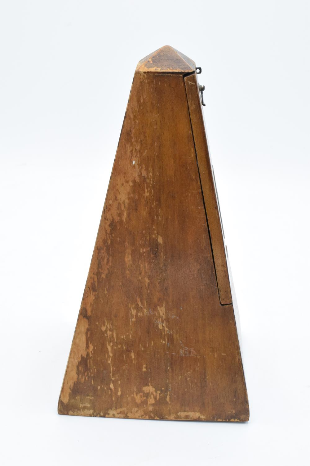 A 20th century wooden cased 'Metronome de Maelzel'. In ticking order though untested for time - Image 9 of 12