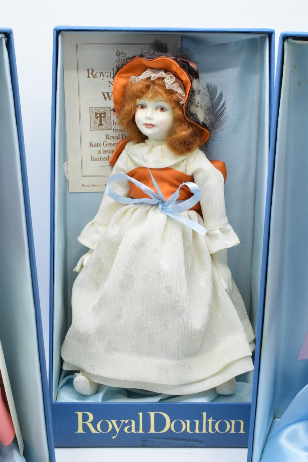 A collection of boxed Royal Doulton Nisbet dolls to include Waiting, The Muff and Pink Ribbons ( - Image 4 of 4