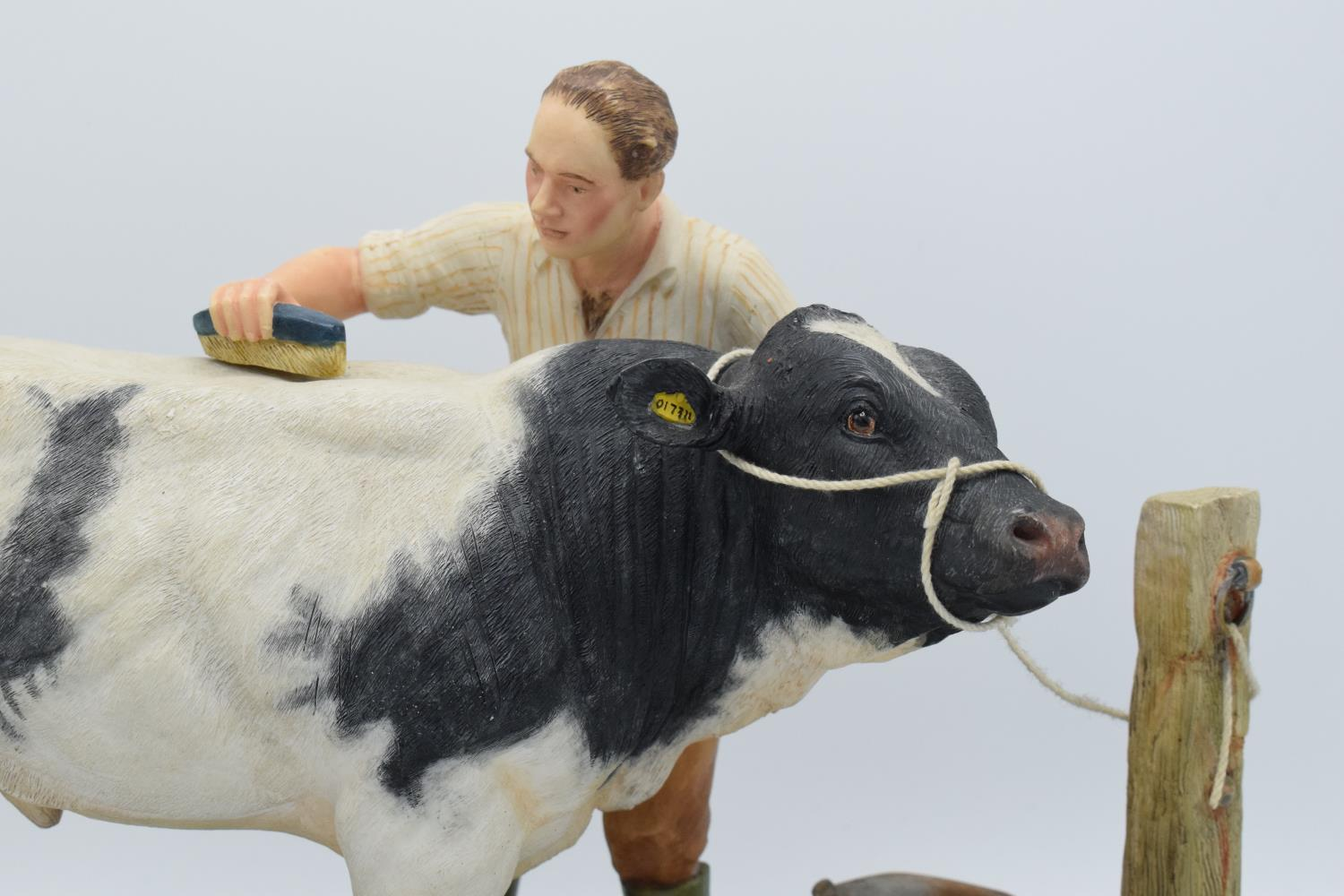 Boxed Country Artists countryside figure of a Belgian Blue- 'The Winning Partnership'. In good - Image 2 of 4