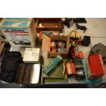 A mixed collection of items to include a Rondette 35mm colour slide projector, a Revue auto