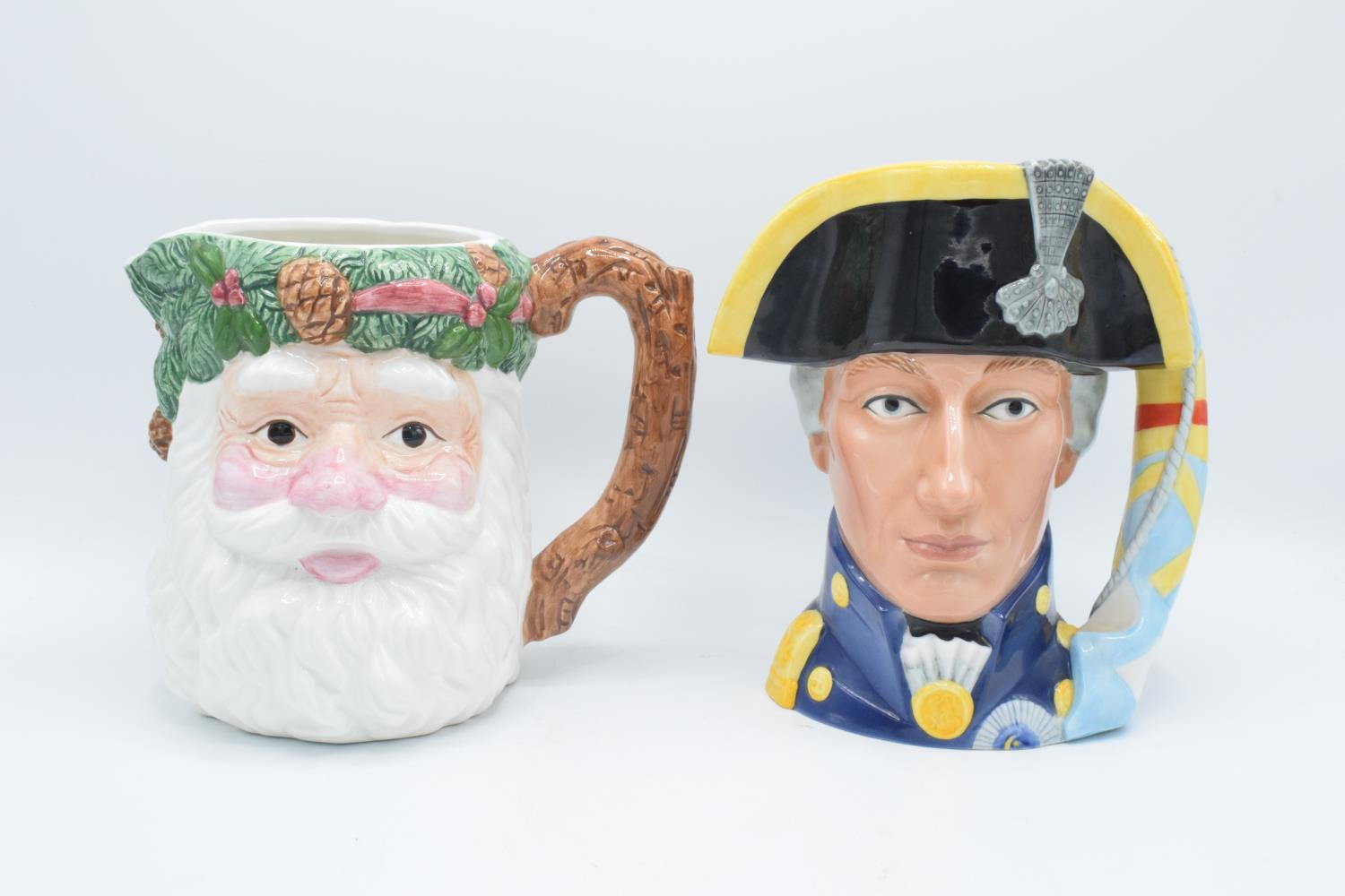 The Maritime Trust character jug of Admiral Lord Nelson with certificate together with a WCL