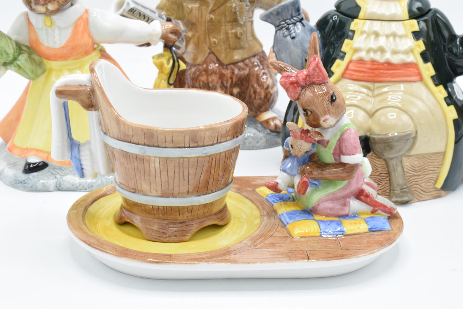 A collection of Royal Doulton to include a Long John Silver character teapot, Bunnykins Lord and - Image 4 of 4