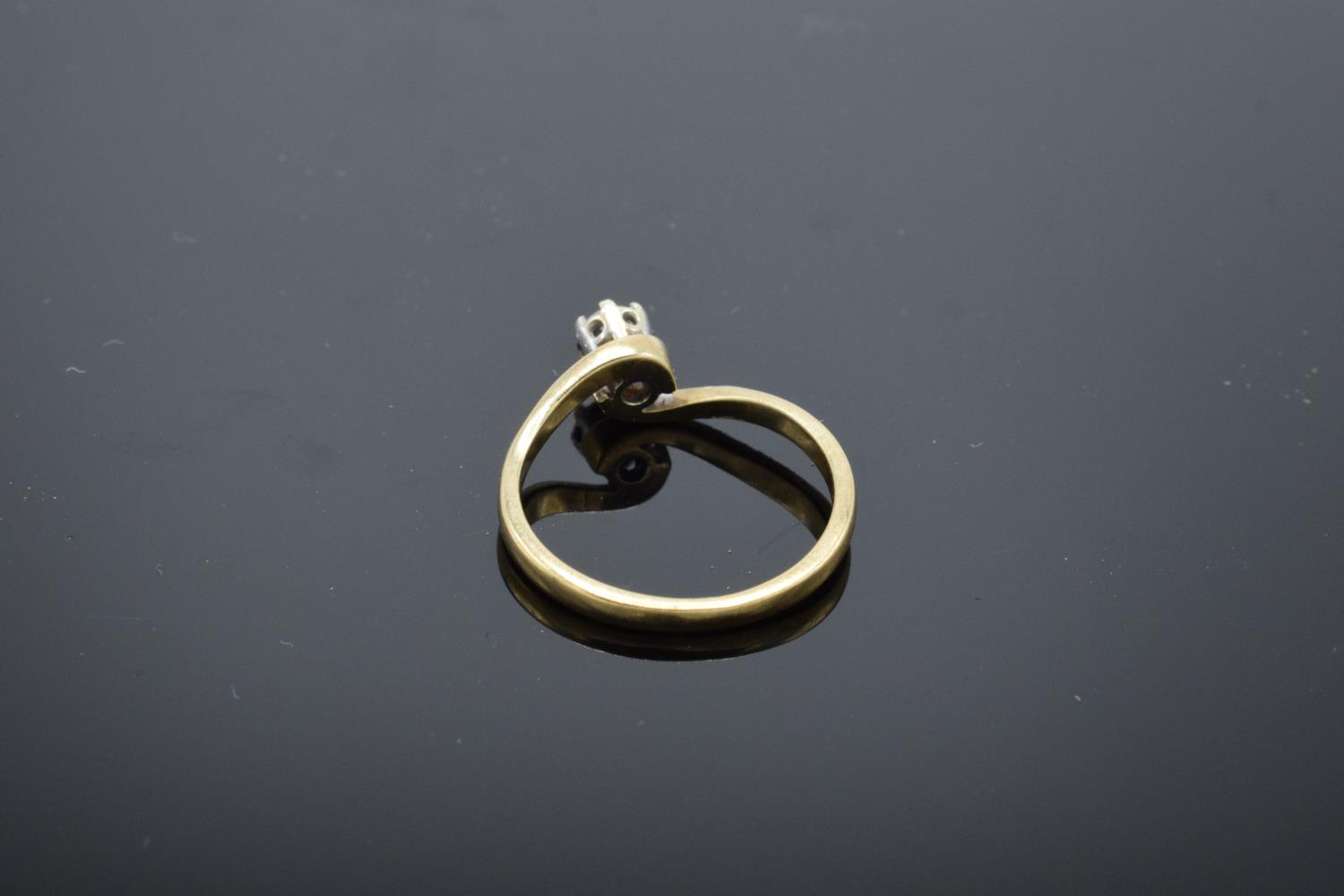 9ct gold ladies solitaire diamond ring. UK size L/M. 1.8 grams gross weight. Full hallmarks. - Image 3 of 4
