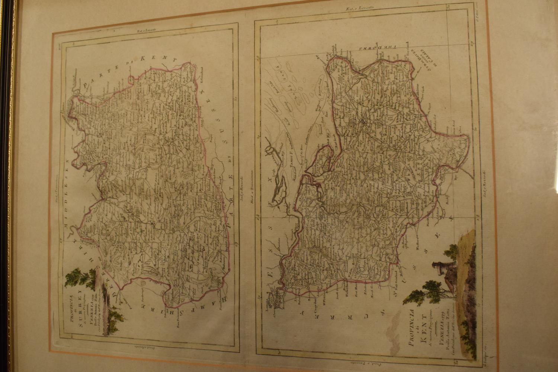 Antique map prints of by Antonio Zatta: Provincia de Surrey and Provincia de Kent (2). Li Regmi D' - Image 3 of 4