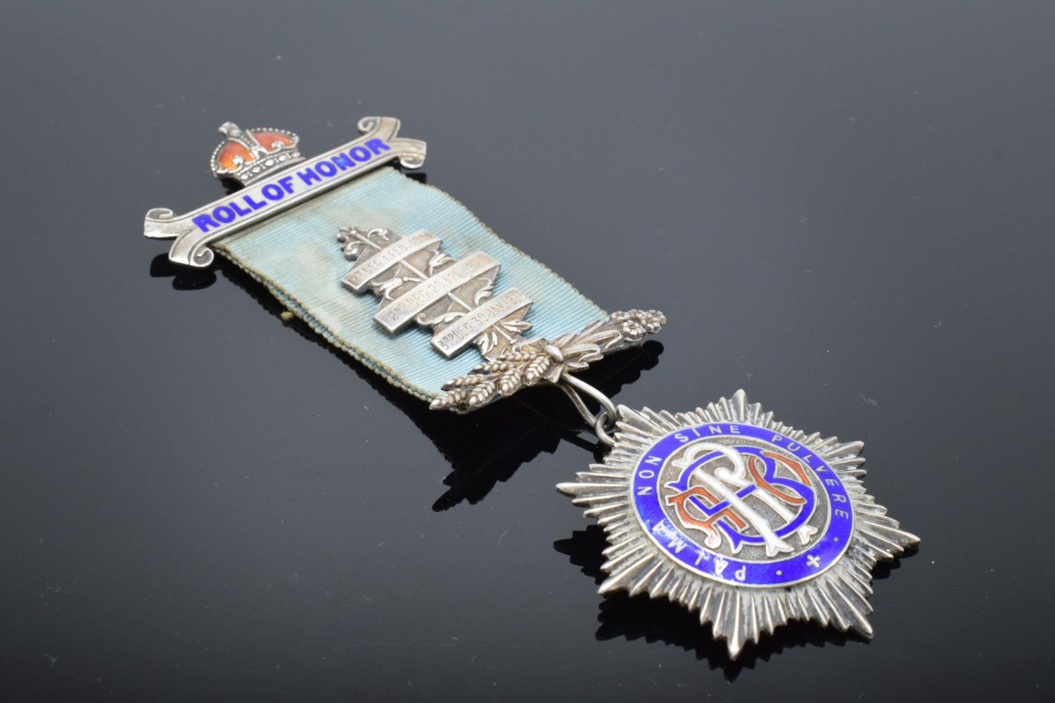 A silver medal and ribbon presented to Arthur J Thorne by the Royal Borough Lodge (GLE) Birmingham - Image 7 of 12