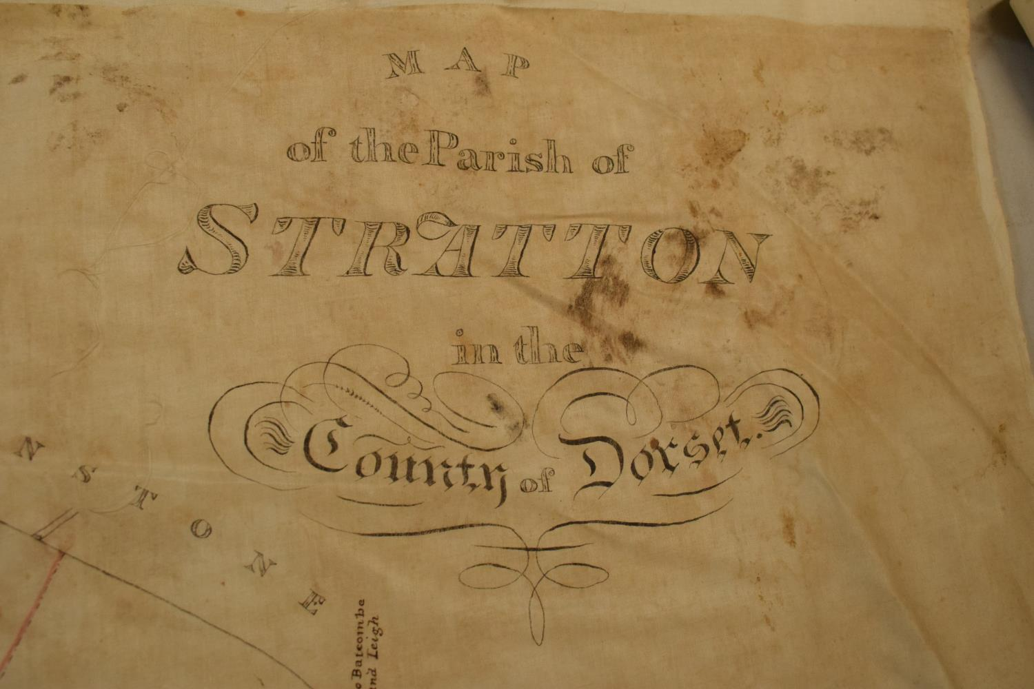19th / early 20th century Ordnance Survey style maps to include a cloth version 'Map of the Parish - Image 4 of 13