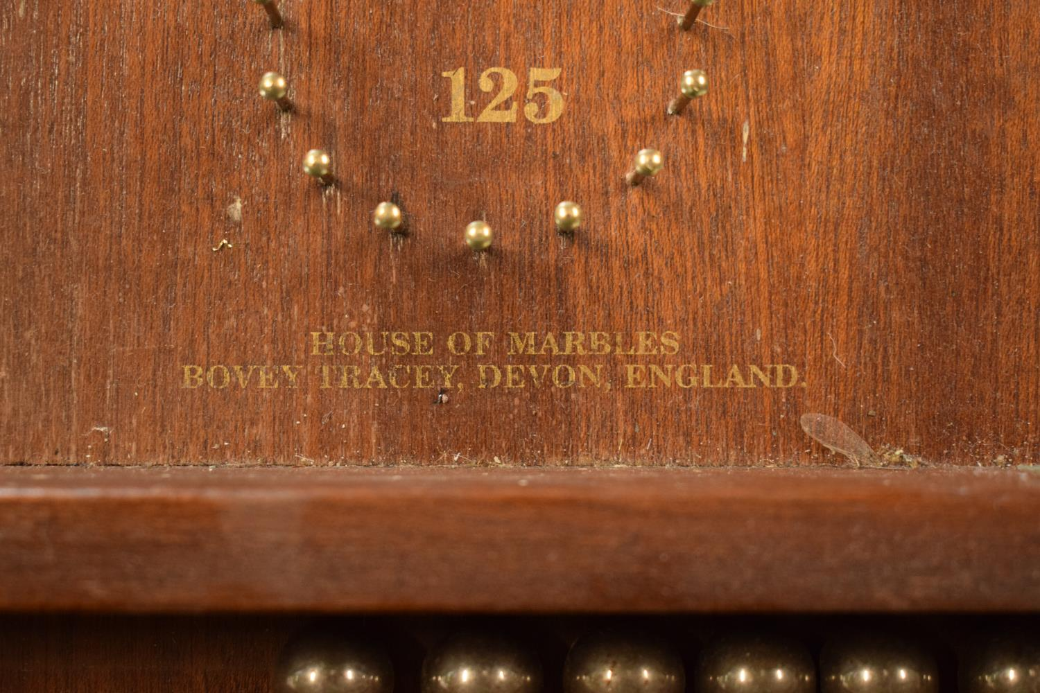 A pair of 20th century wooden bagatelle games complete with associated balls. One is made by Chad - Image 3 of 5