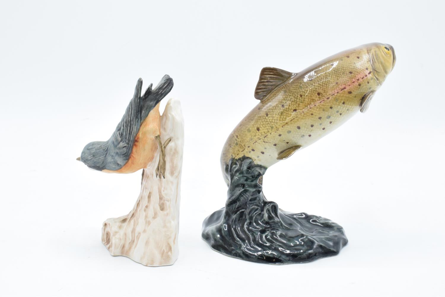 Beswick model of a Trout 1032 together with a Goebel Nuthatch CV84 (2). Both are in good condition - Image 2 of 6