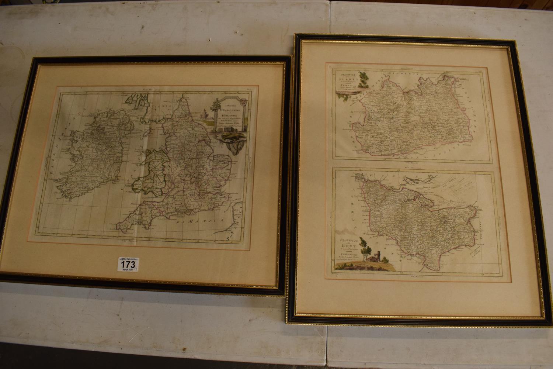 Antique map prints of by Antonio Zatta: Provincia de Surrey and Provincia de Kent (2). Li Regmi D'