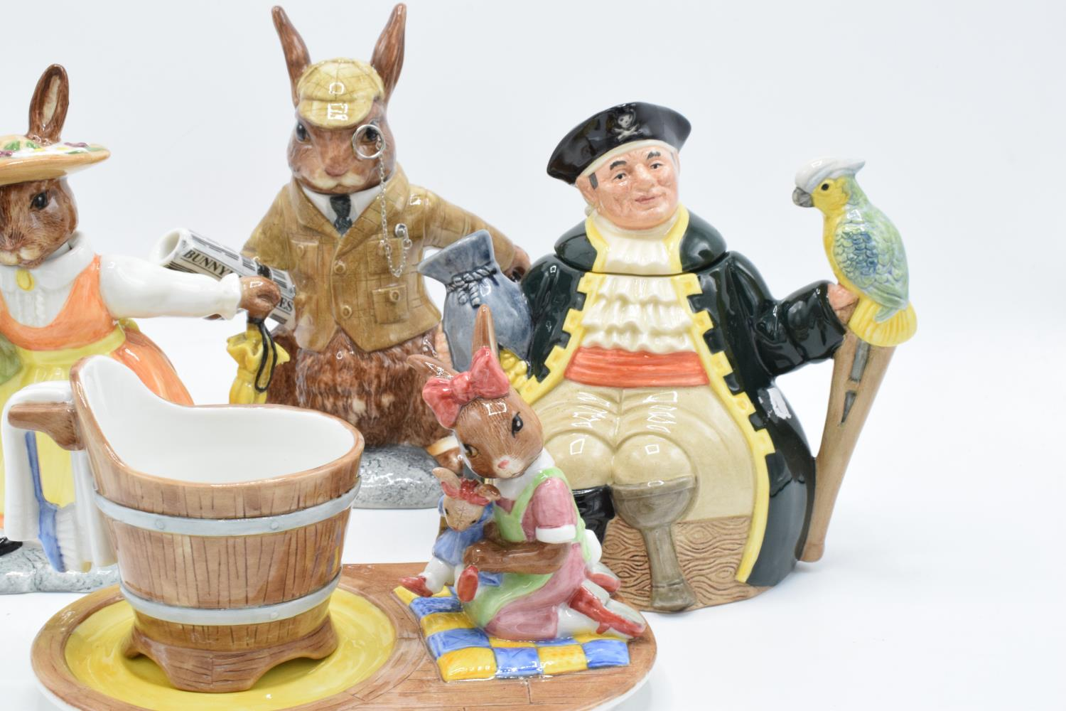 A collection of Royal Doulton to include a Long John Silver character teapot, Bunnykins Lord and - Image 3 of 4