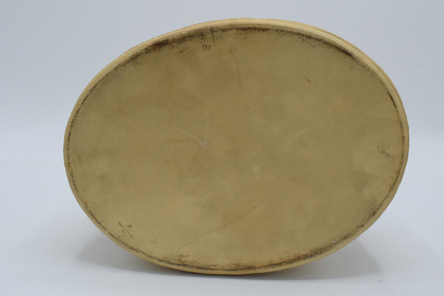 Wedgwood Caneware game pie dish with a rabbit finial (a/f). The main body is in good condition - Image 8 of 9