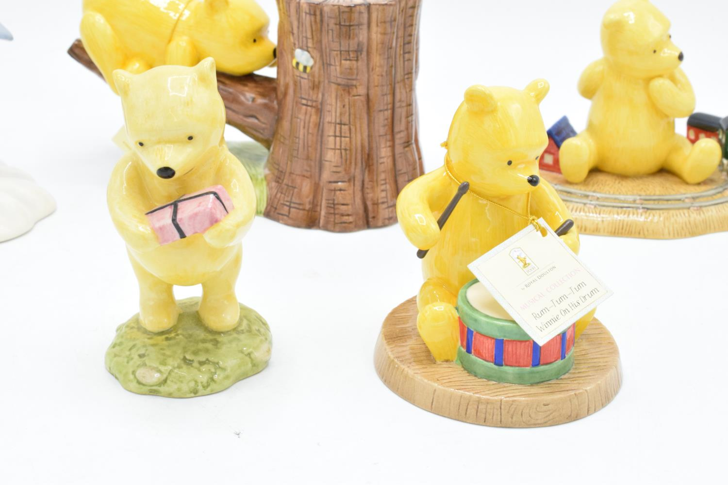 A collection of Royal Doulton Winnie the Pooh figures to include It's Honey all the way down, Rum- - Image 5 of 5