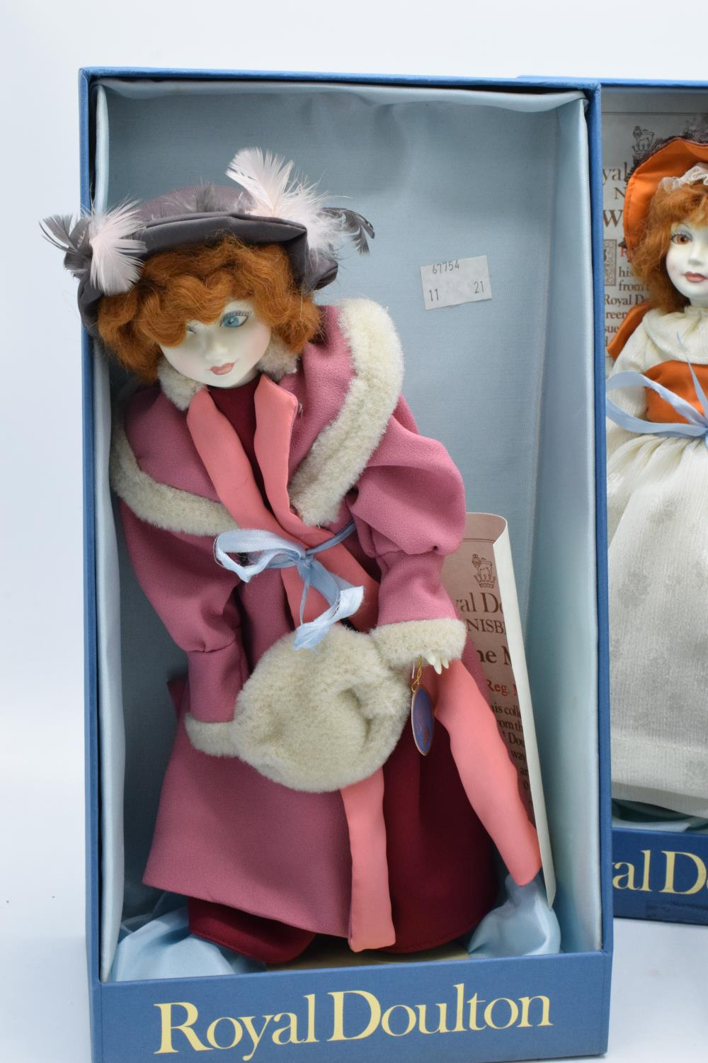 A collection of boxed Royal Doulton Nisbet dolls to include Waiting, The Muff and Pink Ribbons ( - Image 3 of 4