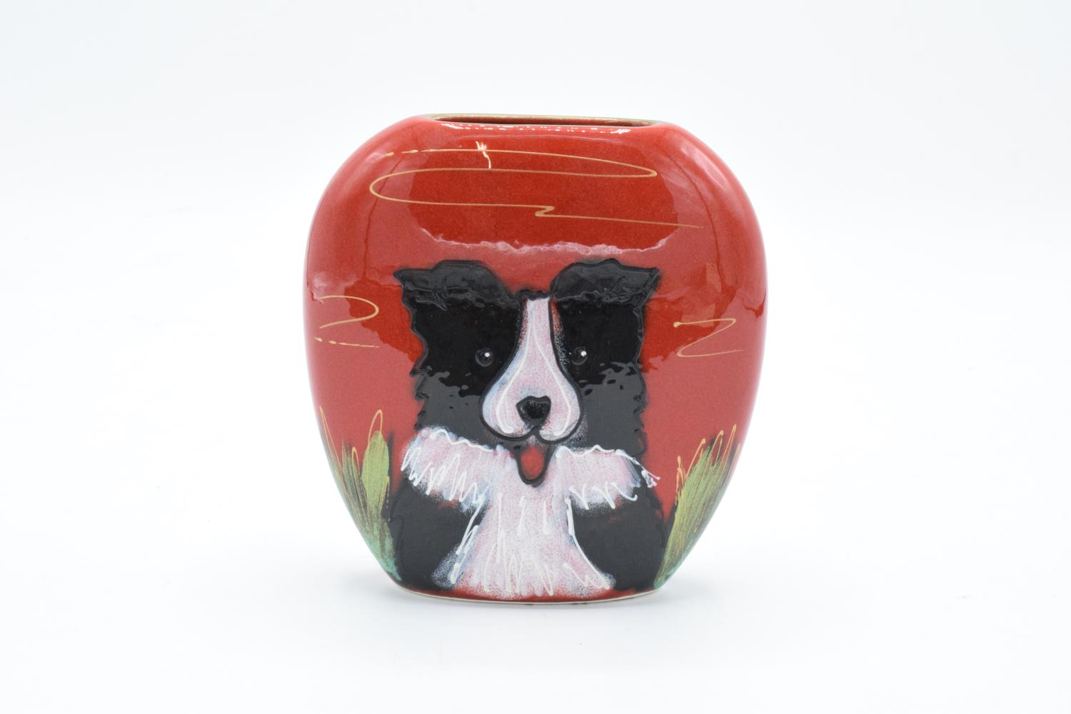 Anita Harris Art Pottery limited edition vase of a Collie: produced in an exclusive edition of 25
