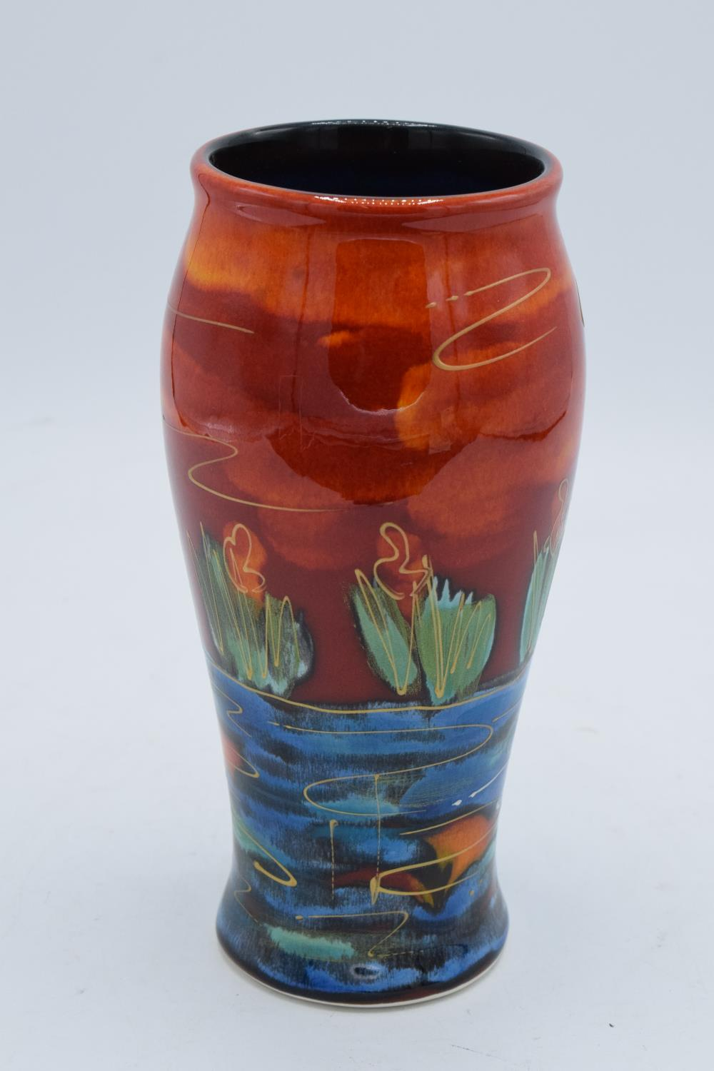 Anita Harris Art pottery vase with a swan scene. In good condition with no obvious damage or - Image 2 of 3