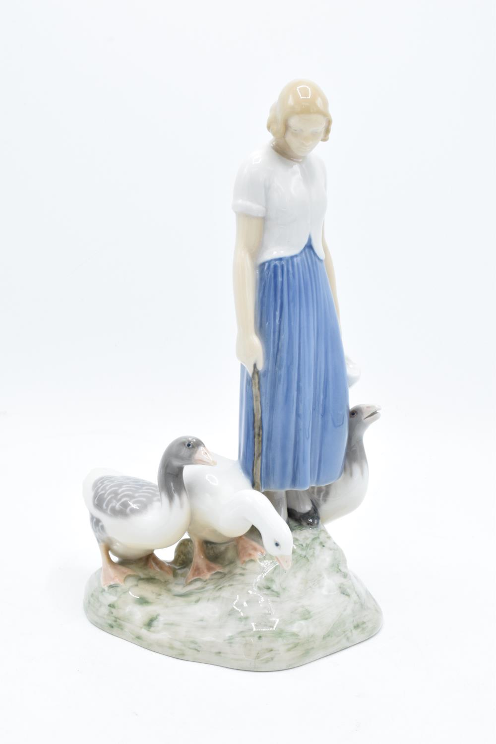 Bing and Grondahl figure Girl with Geese 2254 by Axel Locher. In good condition with no obvious