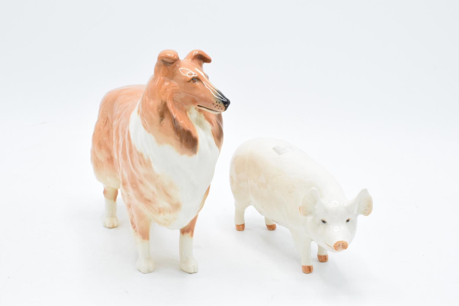 Beswick rough collie Lochinvar of Lady Park together with a pig Ch. Wall Queen 40 (2). In good - Image 2 of 3