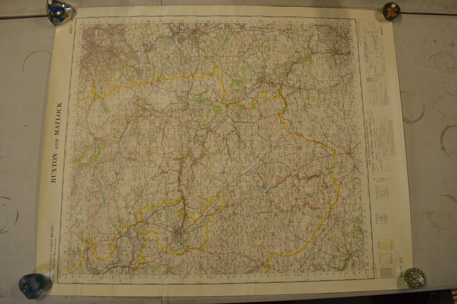 19th / early 20th century Ordnance Survey style maps to include a cloth version 'Map of the Parish - Image 7 of 13