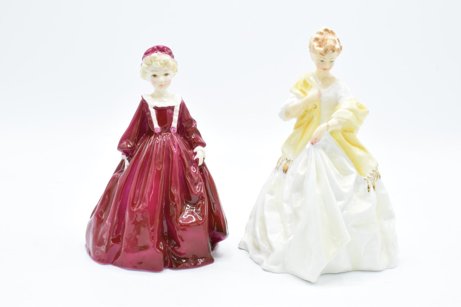 Royal Worcester figures to include Grandmother's Dress 3081 and First Dance 3629, both modelled by