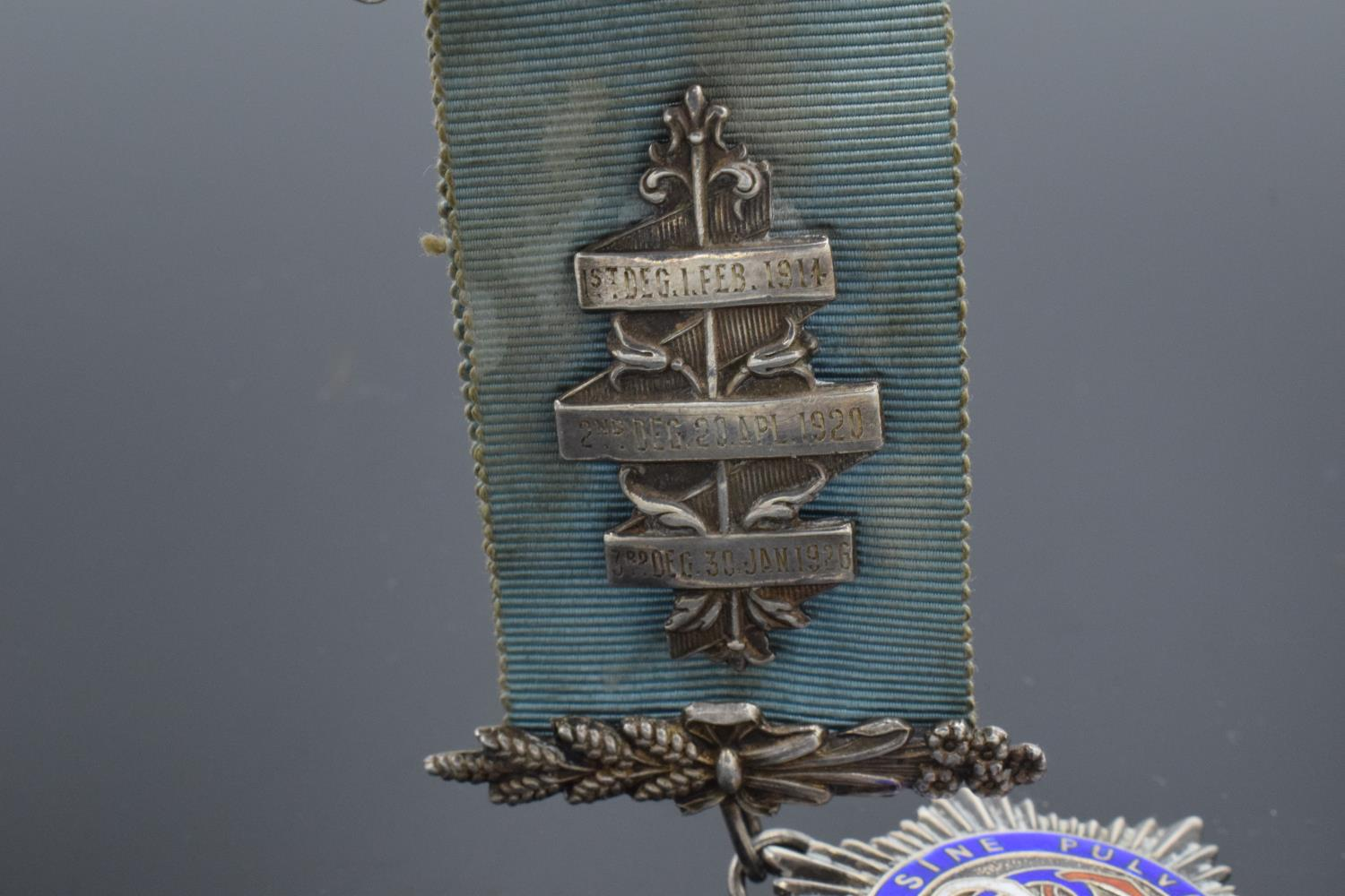 A silver medal and ribbon presented to Arthur J Thorne by the Royal Borough Lodge (GLE) Birmingham - Image 10 of 12