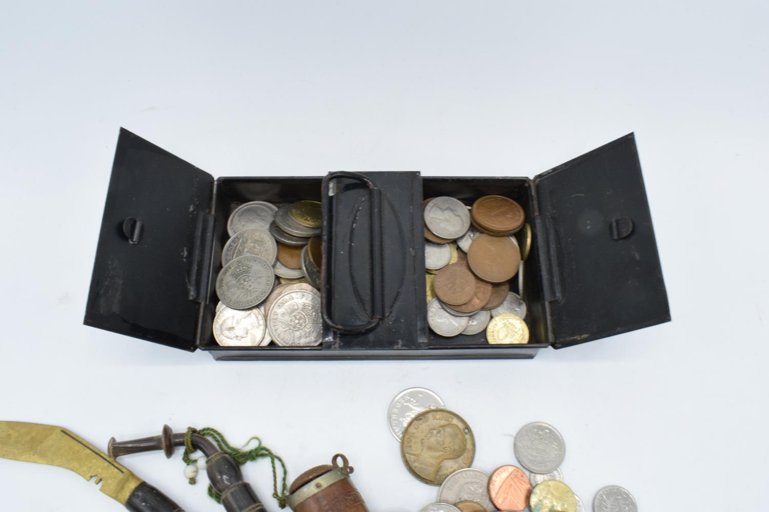 A mixed collection of items to include a hallmarked silver badge, 3 silver coins, a collection of - Image 4 of 4