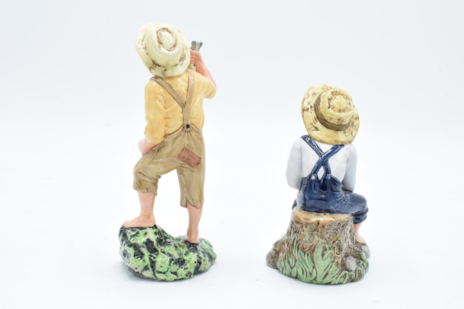 Royal Doulton character figures Huckleberry Finn HN2927 and Tom Sawyer HN2926 (2). In good condition - Image 2 of 3