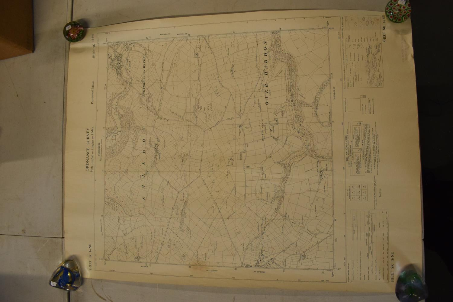 19th / early 20th century Ordnance Survey style maps to include a cloth version 'Map of the Parish - Image 11 of 13