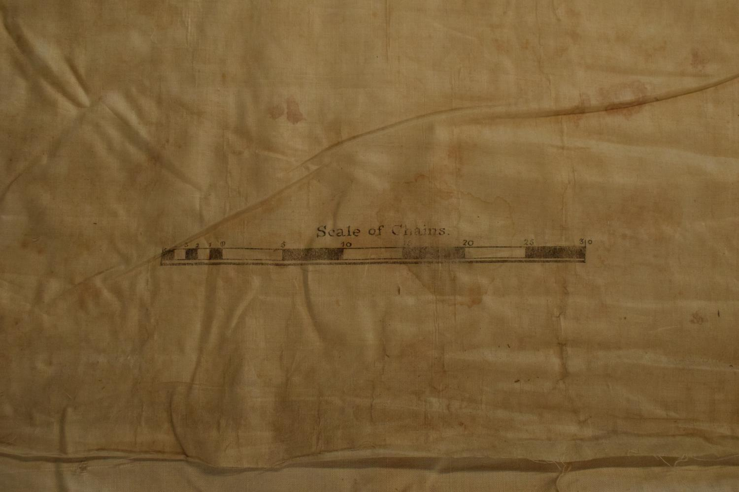 19th / early 20th century Ordnance Survey style maps to include a cloth version 'Map of the Parish - Image 6 of 13