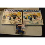 A collection of 20th century Meccano to include motorised construction set x 2 and a bag of loose