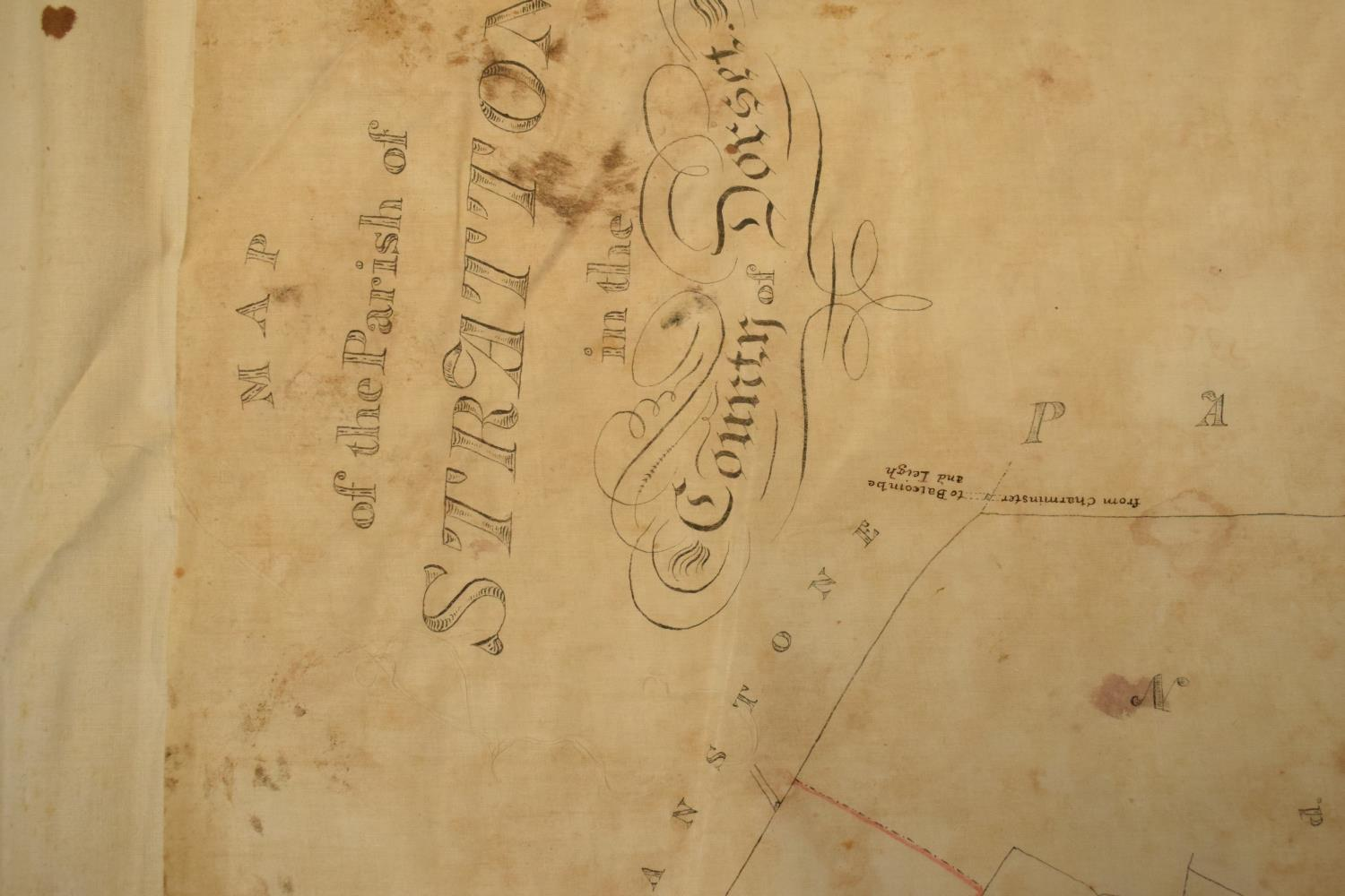 19th / early 20th century Ordnance Survey style maps to include a cloth version 'Map of the Parish - Image 3 of 13