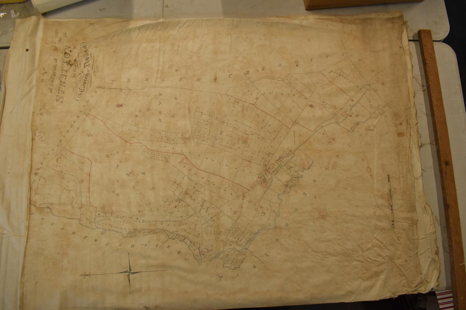 19th / early 20th century Ordnance Survey style maps to include a cloth version 'Map of the Parish