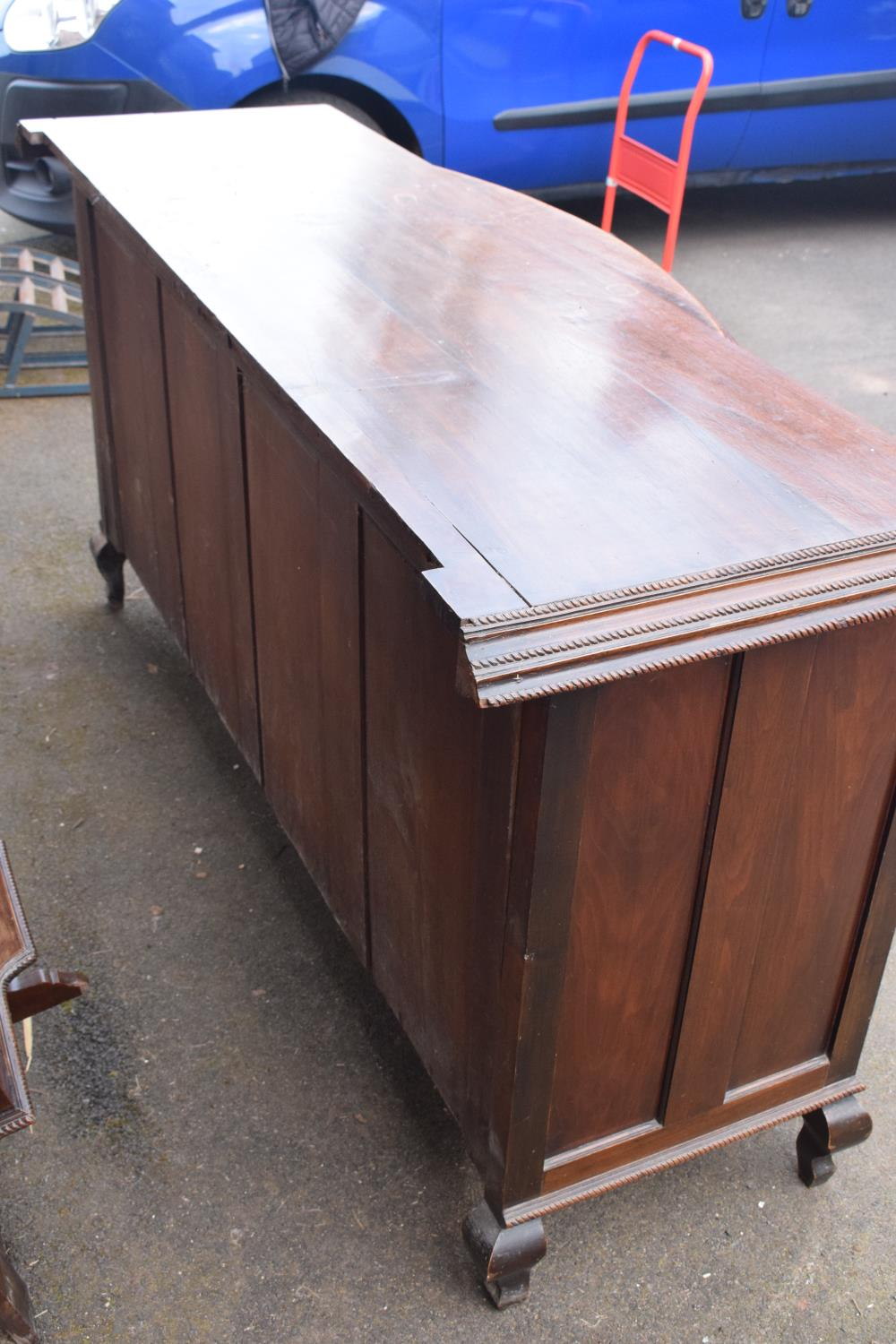 Edwardian large carved oak mirror backed sideboard. 178 x 64 x 224cm height. In good functional - Image 18 of 18
