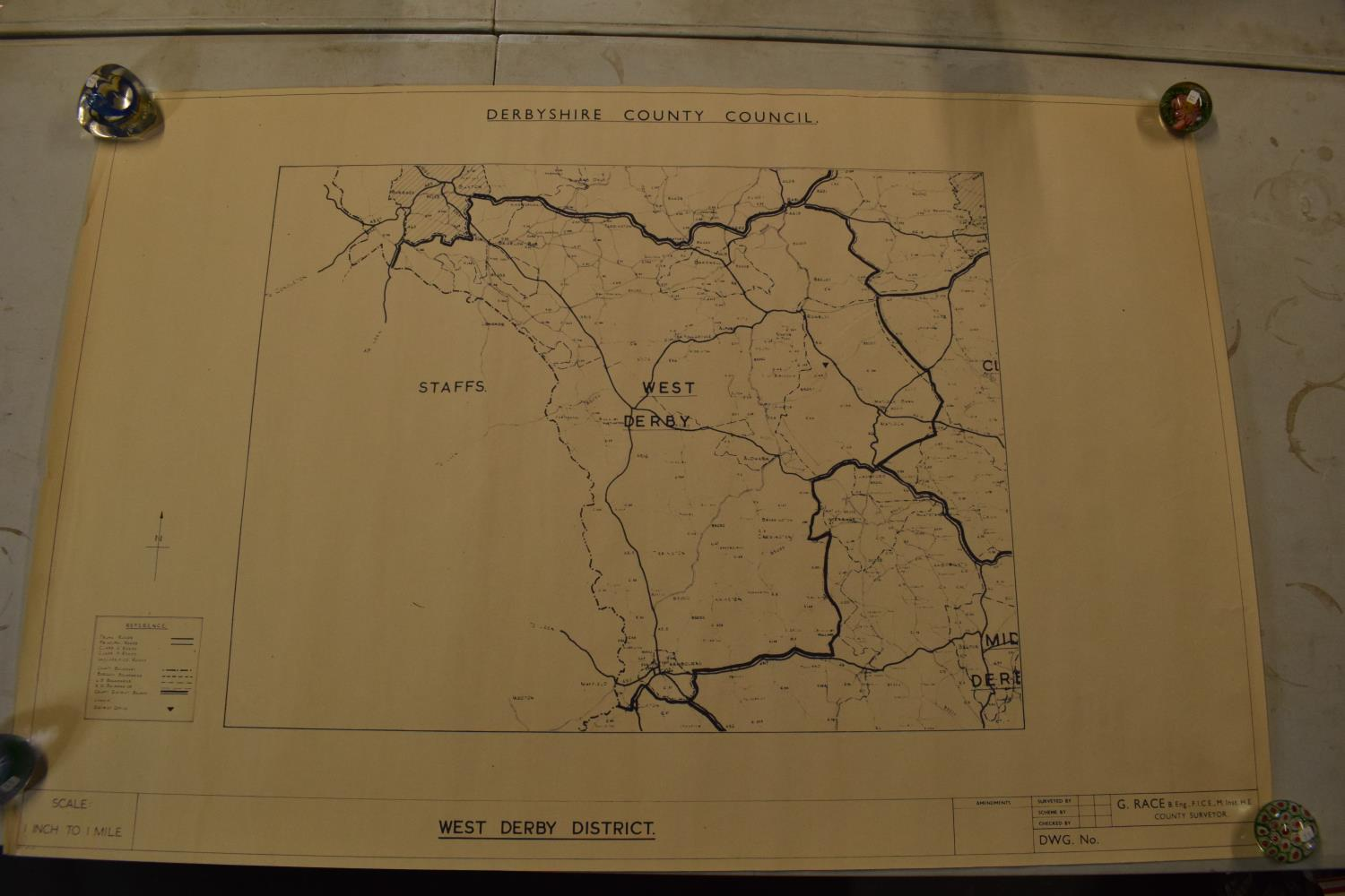 19th / early 20th century Ordnance Survey style maps to include a cloth version 'Map of the Parish - Image 8 of 13