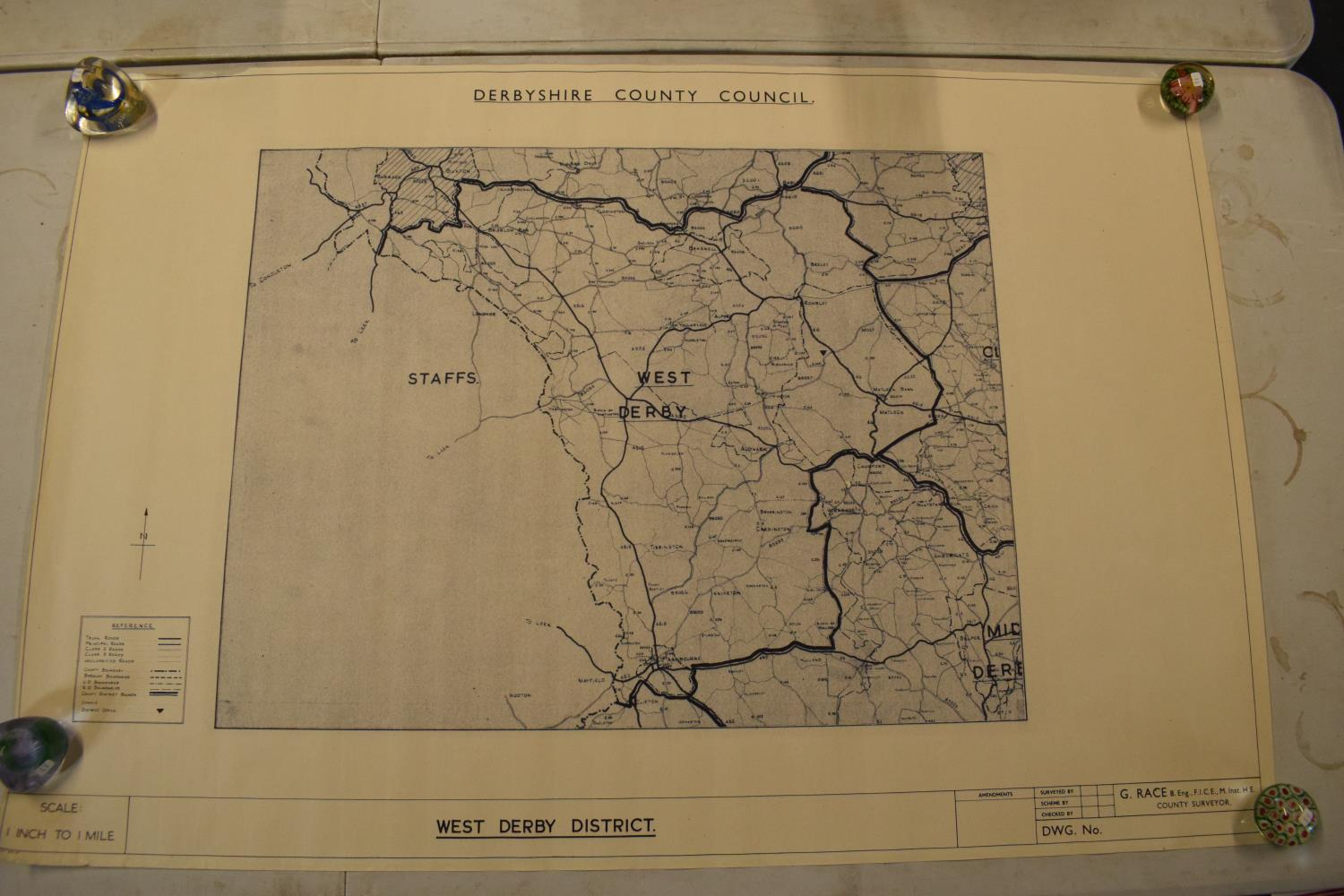 19th / early 20th century Ordnance Survey style maps to include a cloth version 'Map of the Parish - Image 13 of 13