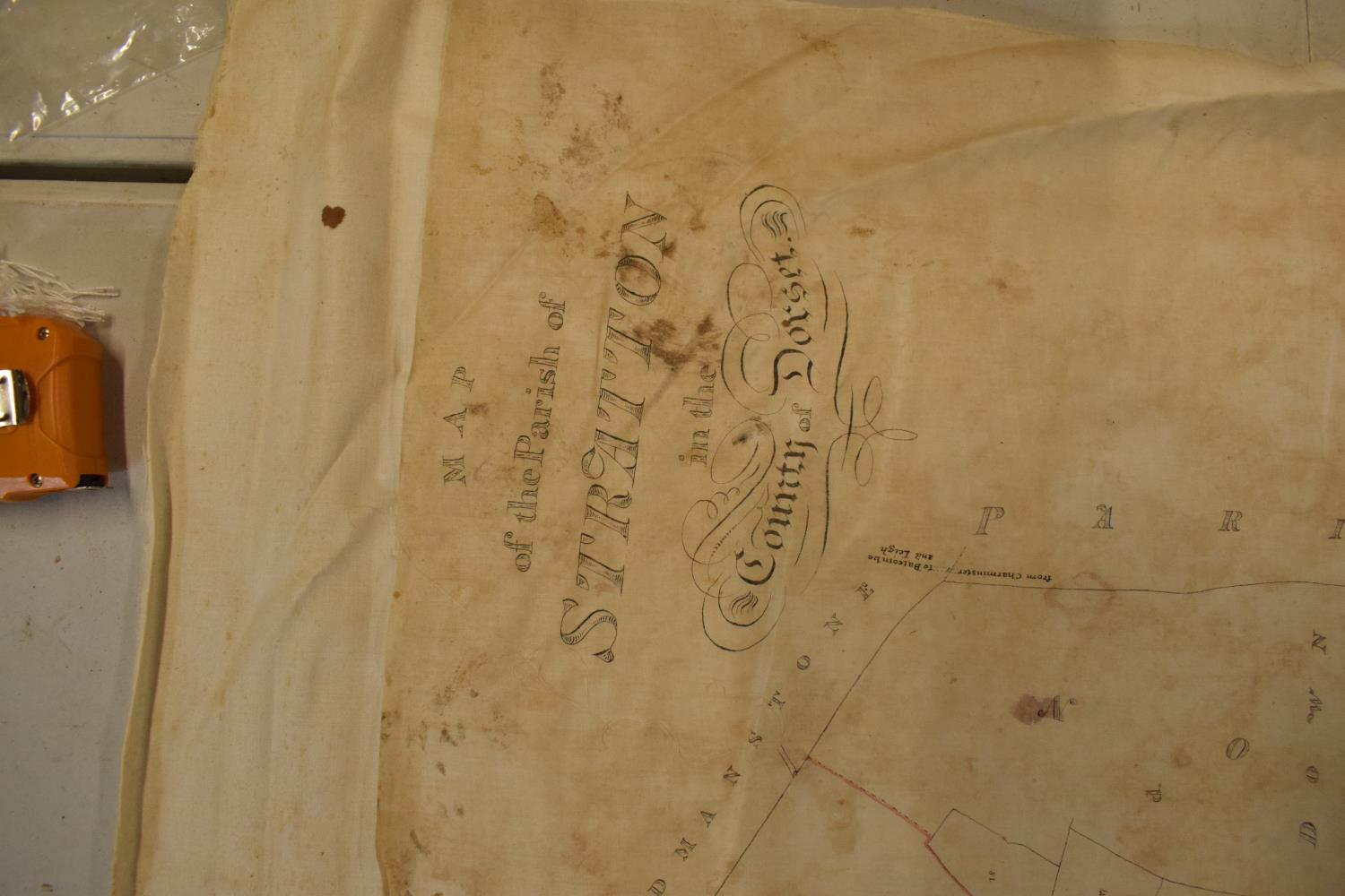 19th / early 20th century Ordnance Survey style maps to include a cloth version 'Map of the Parish - Image 2 of 13