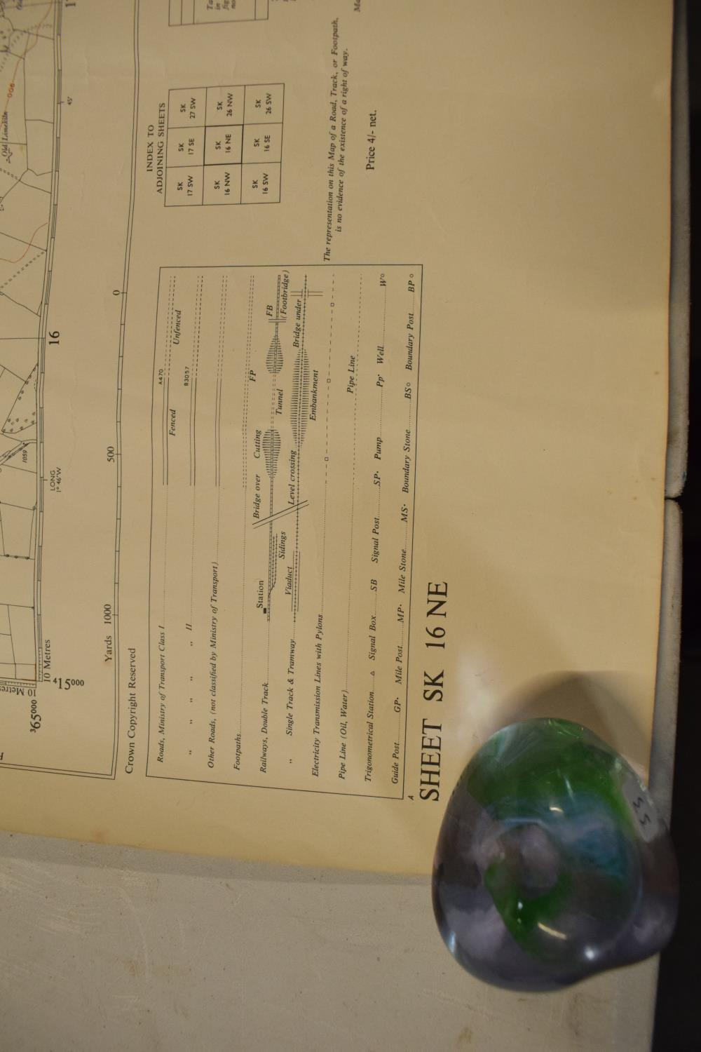19th / early 20th century Ordnance Survey style maps to include a cloth version 'Map of the Parish - Image 12 of 13