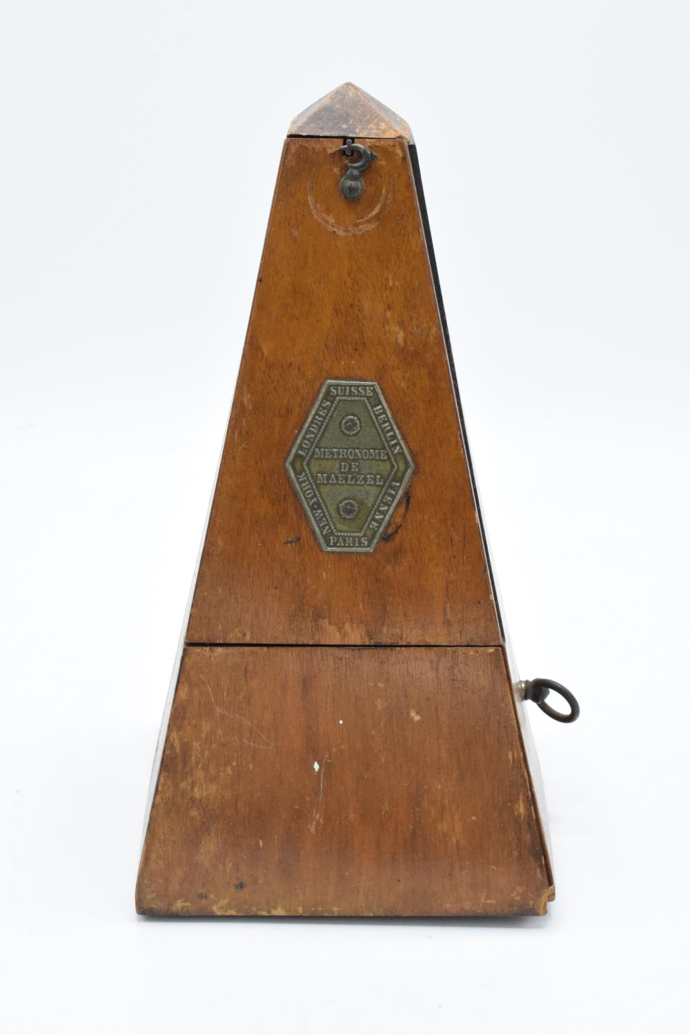 A 20th century wooden cased 'Metronome de Maelzel'. In ticking order though untested for time