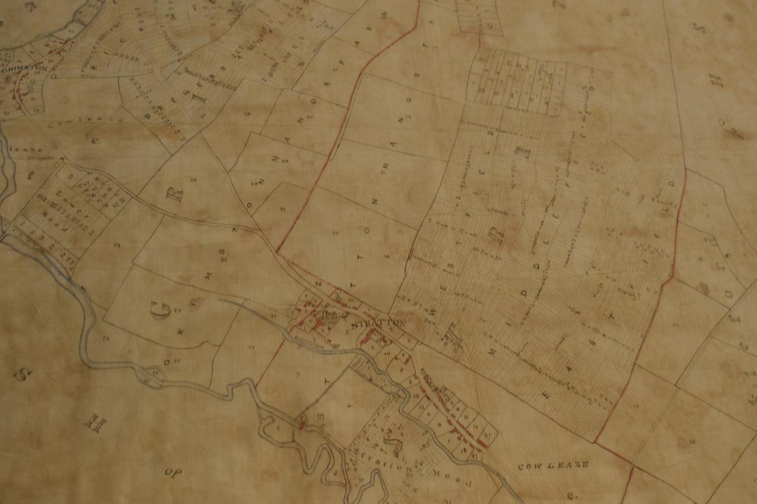 19th / early 20th century Ordnance Survey style maps to include a cloth version 'Map of the Parish - Image 5 of 13