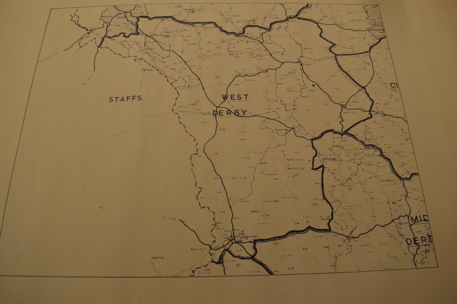 19th / early 20th century Ordnance Survey style maps to include a cloth version 'Map of the Parish - Image 10 of 13